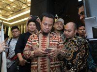 Humas Makassar memperkenalkan aplikasi pengaduan masyarakat berbasis android 'Sodarata' di Pinisi Point Mall pada ajang Humas Sulsel Expo, Sabtu (29/06/2019).