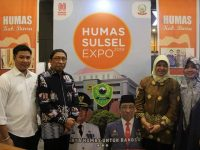 Sekretaris Daerah (Sekda) Kabupaten Barru H. Nasruddin, AM turut menghadiri Humas Sulsel Expo 2019 yang berlangsung di Mall Phinisi Point (Pipo) Makassar.