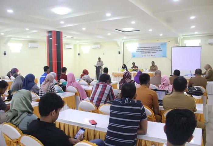 Pelatihan Peningkatan Kapasitas bagi Aparatur Pemerintahan Kecamatan, Kelurahan/Desa Program Pamsimas III Tahun 2019 yang digelar di hotel Youtefa Barru, Senin (1/7/2019).