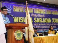 Bupati Barru Ir. H. Suardi Saleh menghadiri acara rapat terbuka luar biasa dalam rangka Wisuda Sarjana STIA Al-Gazali ke-XXIII
