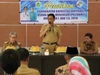 Pelatihan Peningkatan Kapasitas Koperasi Usaha Kecil Menengah (PK2UKM) di Bola Sobae, Kecamatan Barru, Senin (22/7/2019).