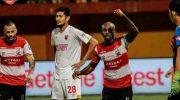 Hasil Liga 1 2019, Madura United Tundukkan PSM Makassar dengan skor 2-0.
