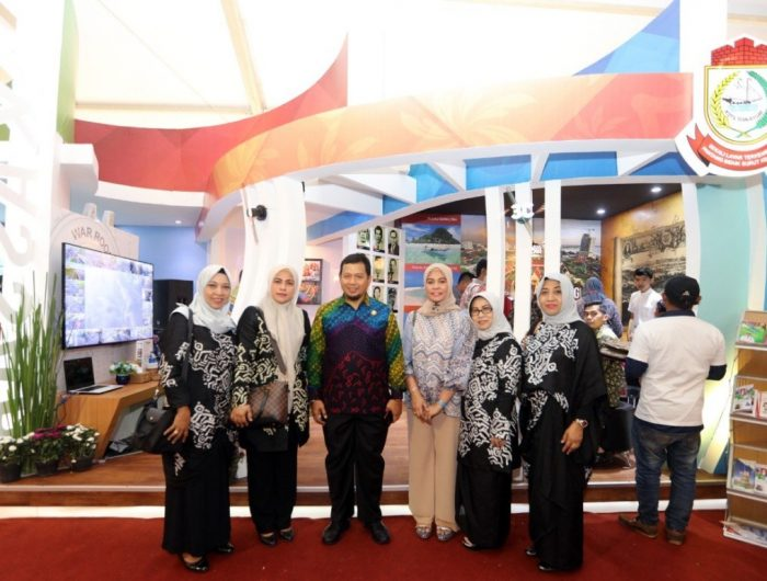 Booth Pemerintah Kota Makassar (Pemkot) Makassar menjadi pusat perhatian pada Indonesia City Expo (ICE) Assosiasi Pemerintah Kota Seluruh Indonesia (APEKSI) 2019 di kota Semarang, Rabu (3/07).