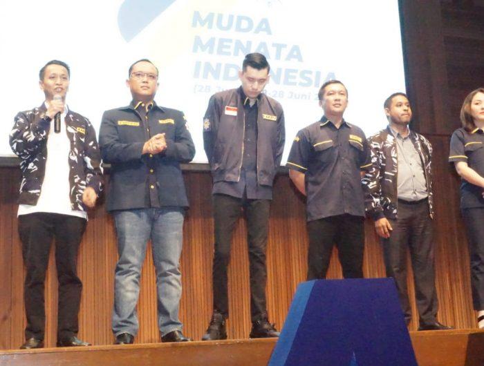 Jamaluddin M Syamsir saat menghadiri malam puncak HUT AMPI ke-41.