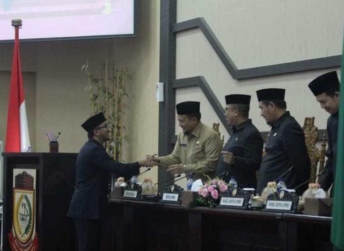 Rapat Paripurna yang berlangsung di Ruang Rapat Paripurna DPRD Makassar, Jl A.P. Petta Rani, Makassar, Senin (8/7/2019).