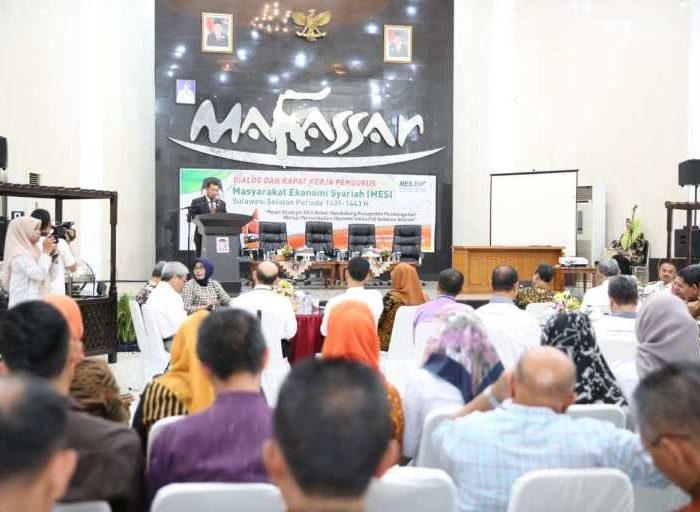 Dialog dan Rapat Kerja Pengurus Wilayah Masyarakat Ekonomi Syariah (MES) Sulawesi Selatan periode 2019-2022.