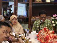 Suardi Saleh menerima kunjungan Tim Pusat KKS (Kabupaten/Kota Sehat).