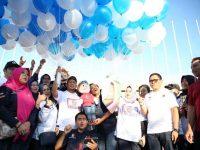 Penjabat (Pj) Wali Kota Makassar M Iqbal S Suhaeb meluncurkan Layanan Khusus Pemustaka (Kusuka) milik Dinas Perpustakaan Kota Makassar
