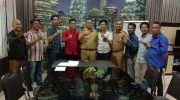 DPK KNPI Tamalate temui Camat Tamalate Kota Makassar, Fahyuddin Yusuf