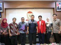 Ketua Program Pendidikan S3 Ilmu Ekonomi Unhas usai menggelar pertemuan dengan Pj Wali Kota Makassar M Iqbal S Suhaeb.