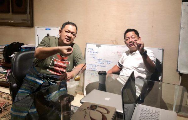 Bakal Calon Wali Kota Makassar, Taufiqqulhidayat Ande A Latif kembali bertemu dengan Ketua DPW NasDem Sulawesi Selatan, H. Rusdi Masse (RMS)