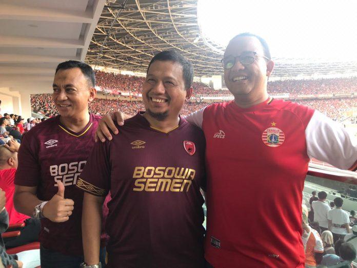 Iqbal Suhaeb Nonton Final Piala Indonesia di GBK Bareng Anies Baswedan