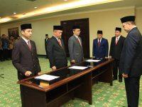 Pelantikan Prof. Hamdan Juhannis sebagai rektor UIN Alauddin Makassar.