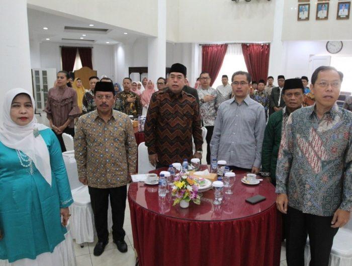 Perayaan milad MUI Sulsel yang ke 44 tahun di Baruga Anging Mammiri, Makassar, Sabtu (27/7/2019).