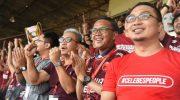 Nurdin Abdullah Nobar PSM di Stadion Andi Mattalatta