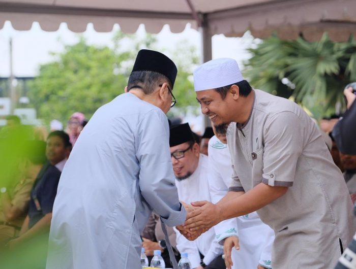 Wakil Gubernur Sulsel Andi Sudirman Sulaiman, saat menghadiri HUT Kota Palopo.