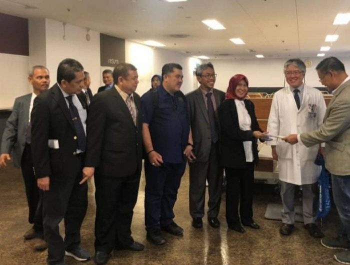 Kunjungan Ketua TGUPP, Prof Yusran Yusuf, Koordinator Tim Kesehatan, Prof. dr. Dudu, Tim Kesehatan, Prof. drg Hasanuddin dan Plt Kadinkes Sulsel, dr. Bachtiar Baso, di Jepang.