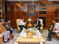 PT Milatronika Karya Niaga menemui Gubernur Sulsel, HM. Nurdin Abdullah.