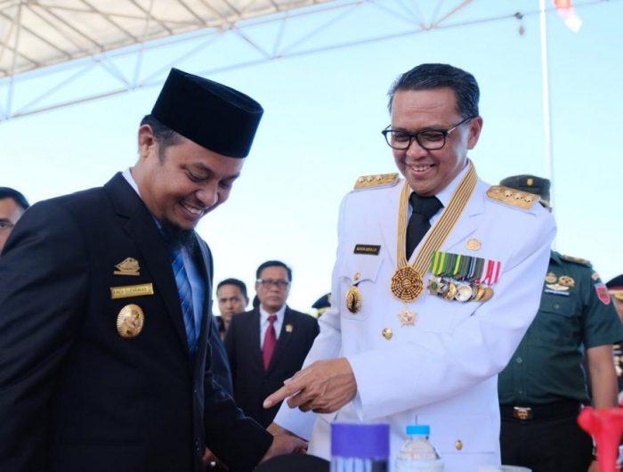 Gubernur Sulsel, Nurdin Abdullah dan Wakil Gubernur Andi Sudirman Sulaiman.