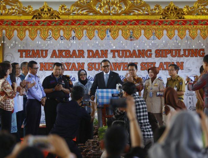Temu Akbar dan Tudang Sipulung bersama 300 nelayan di Kelurahan Untia, Kecamatan Biringkanaya, Senin (15/7/2019).