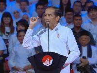 Joko Widodo Presiden RI terpilih 2019-2014 menyampaikan pidato dalam acara Visi Indonesia di SICC, Bogor, Minggu (14/7/2019). (Foto: Screenshoot youtube/kompastv)