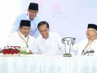 Jokowi-Ma'ruf dan Prabowo-Sandi (Foto: Kompas.com)