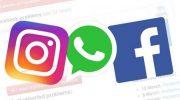 Whatsapp, Instagram, Facebook.