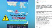 Peringatan dini tsunami akibat Gempa berkekuatan M 7 mengguncang barat daya Ternate, Maluku Utara malam ini dinyatakan berakhir.