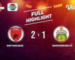 PSM Makassar vs Persebaya Surabaya. (Ist)