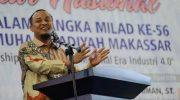 Wakil Gubernur Sulsel, Andi Sudirman Sulaiman jadi Narasumber di Seminar Nasional dalam rangka Milad ke-56 Universitas Muhammadiyah Makassar.