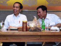 Presiden Joko Widodo berbincang dengan Prabowo Subianto saat pertemuan di FX Senayan, Jakarta, Sabtu (13/7/2019) (Foto: Biro Pers Secretariat Presiden)