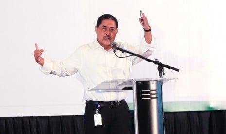 Direktur Jenderal Pengembangan Kawasan Transmigrasi Kemendes PDTT M. Nurdin memberikan arahan dalam Rakornas Transmigrasi di Jakarta