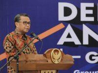 Gubernur Sulsel saat sambutan di acara deklarasi Group Wartawan Media Online (Gowa Mo).