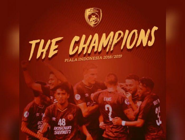 PSM Makassar keluar sebagai kampiun juara Piala Indonesia 2018/2019.