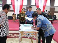 Sekda Barru Hadiri Serah Terima PNS Lulusan IPDN Angkatan XXV