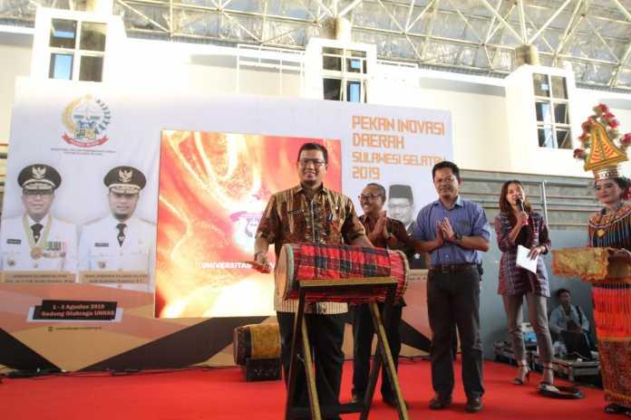 Pj Wali Kota Makassar M Iqbal S Suhaeb membuka penyelenggaraan Pekan Inovasi Daerah Sulawesi Selatan 2019
