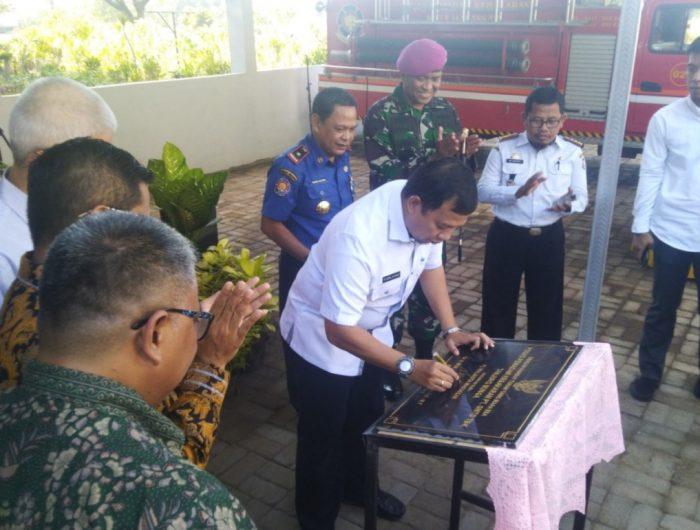 Pj Wali Kota Makassar Resmikan Pos Komando Damkar
