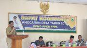 Rapat Koordinasi Anggaran Desa Tahun 2019 di Aula Kantor DPMD PPKB PPPA, Barru
