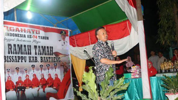 Bupati Bantaeng Hadiri Malam Ramah Kemerdekaan di Bissappu