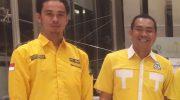 Ketua AMPG Maros Muhammad Syadiq Thaba bersama Legislator DPRD Maros H. A. Patarai Amir. (Ist)
