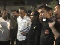 Nurdin Abdullah, usai menemui mahasiswa dan masyarakat Papua, di Asrama Papua