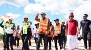 Gubernur Sulsel, Nurdin Abdullah meninjau Bandara Internasional Toraja Buntu Kunik di Tana Toraja.
