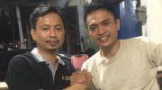 Ketua YLC PERADI Makassar, Andi Jaya Adiputra (kiri) - Ketua Bidang Pertahanan dan Keamanan PB HMI, Edy Sofyan (kanan)