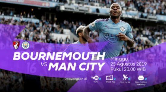 Live Streaming Liga Inggris Bournemouth vs Manchester City