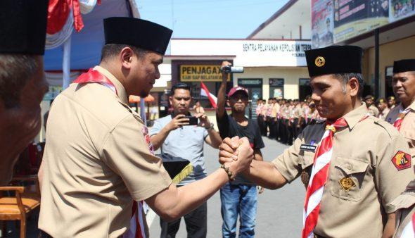 Adnan Kukuhkan Pengurus Saka Bhayangkara Gowa masa bakti 2019-2024