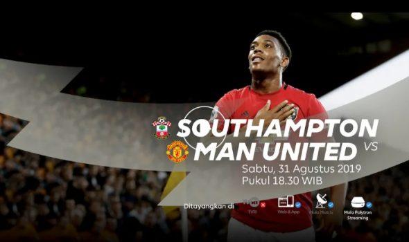 Link Live Streaming Liga Inggris (Premier League): Southampton vs Manchester United