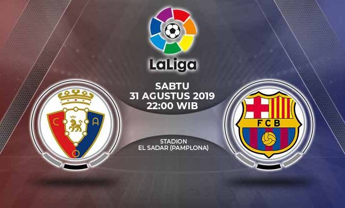 Live Streaming La Liga Liga Spanyol Osasuna vs Barcelona
