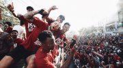 Konvoi Pesta Juara PSM Makassar. ( Foto: Instagram)