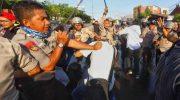 Wartawan LKBN Antara, Muh Darwin Fatir menjadi salah satu korban represif dari aparat keamanan. (Ist)