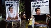 H. A.S Chaidir Syam diduga dirusak oleh orang tak dikenal (OTK) di sejumlah titik di Maros.
